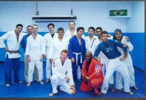 Bangkok Fight Club (http://bangkokfightclub.com/1/index.php) is where I worked on quite a bit of my fundamental Brazilian Jiu Jitsu training. I add a patch for every country I train in. My head instructor at the time is current MMA superstar Adam Kayoom. Thats him on the far left. http://en.wikipedia.org/wiki/Adam_Kayoom