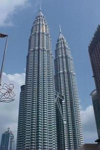 """""""The Big H"""". That's what some call the Petronas Towers. At 1,453 feet they are the tallest towers in the world!"""
