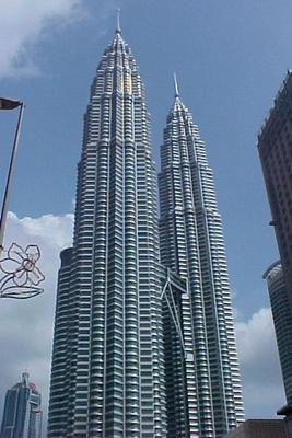 """The Big H"". That's what some call the Petronas Towers. At 1,453 feet they are the tallest towers in the world!"