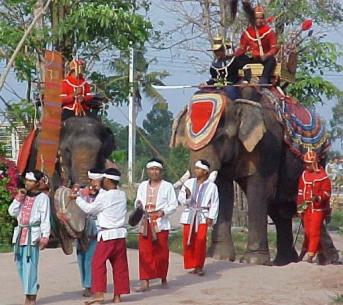Part of the show at the elephant village.