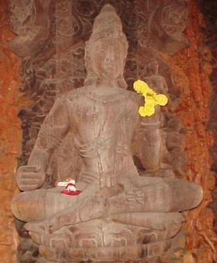 Carved Buddah at The Sanctuary Of Truth.