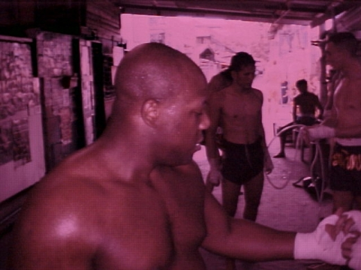 Having my hands wrapped before sparring. #Sor Vorapin #Muay Thai