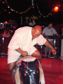 A night on the town ended with me trying to ride a mechanical bull!