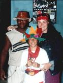 I miss that hat! My friend with the red scarf is Merryn. She's gone on to found a world-class design and marketing firm, http://fishtankcreative.com.au