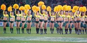 Cheerleaders for the Australian Rugby Team!