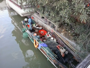 """Zhujiajiao is whats called an """"Ancient Water Town"""" because its made up of canals and waterways that people still use to travel through the city with."""