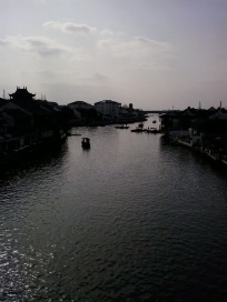 "Zhujiajiao is whats called an ""Ancient Water Town"" because its made up of canals and waterways that people still use to travel through the city with."