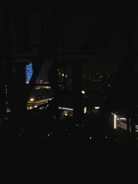 Very, very unsafe views from the rooftop!